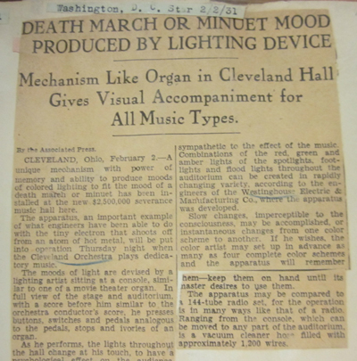 D.C. Star Clipping (Cleveland Orchestra Archives)