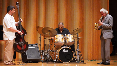 Oberlin jazz faculty: Peter Dominguez, bass, Gary Bartz, sax, Billy Hart, drums